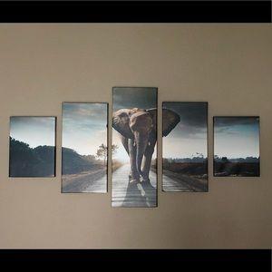 5-Piece Elephant Wall Decor